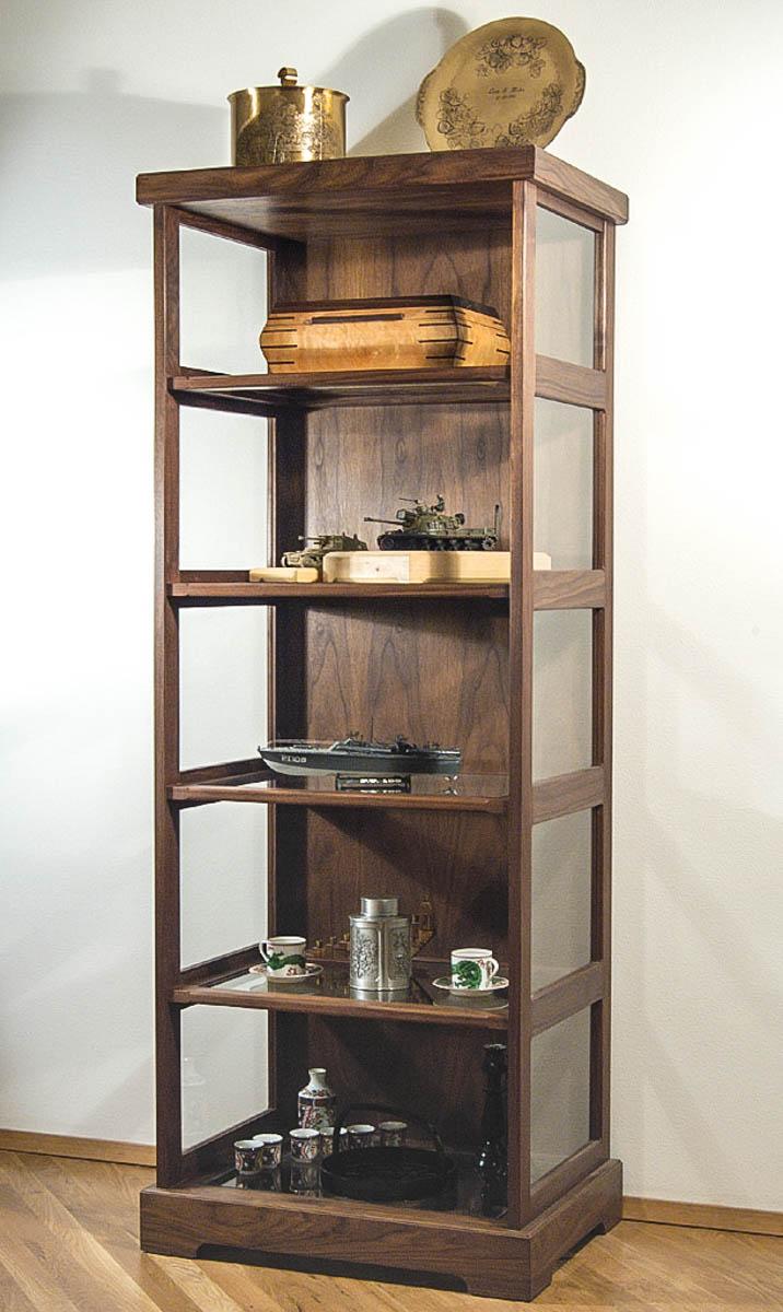 Handmade display cabinet chameleon woodcrafting - Custom display cabinets ...